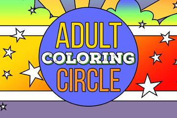 Adult Coloring Circle